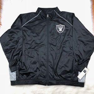super popular b4f55 1f378 Oakland Raiders Plus Size Women Track Jacket 4X Boutique